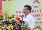 Phó Thủ tướng Chính phủ Vũ Đức Đam chung vui Ngày hội đại đoàn kết với nhân dân khu 9, xã Tứ Xã