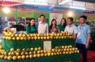 Lãnh đạo huyện Lâm Thao thăm gian trưng bày sản phẩm của huyện tại Lễ hội Bưởi Đoan Hùng và Hội chợ nông sản năm 2018