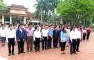 Lễ dâng hương tại đền tưởng niệm các anh hùng liệt sỹ huyện chuẩn bị cho kỳ thi học sinh giỏi tỉnh năm học 2018- 2019