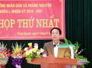 Xã Phùng Nguyên tổ chức kỳ họp HĐND xã lần thứ Nhất, nhiệm kỳ 2016-2021