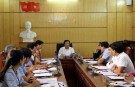 Hội nghị thống nhất nội dung chương trình kỳ họp thứ Chín- HĐND huyện khóa XVIII, nhiệm kỳ 2016 – 2021
