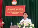 Đoàn biểu HĐND tỉnh Phú Thọ, đại biểu HĐND huyện Lâm Thao tiếp xúc với cử tri.