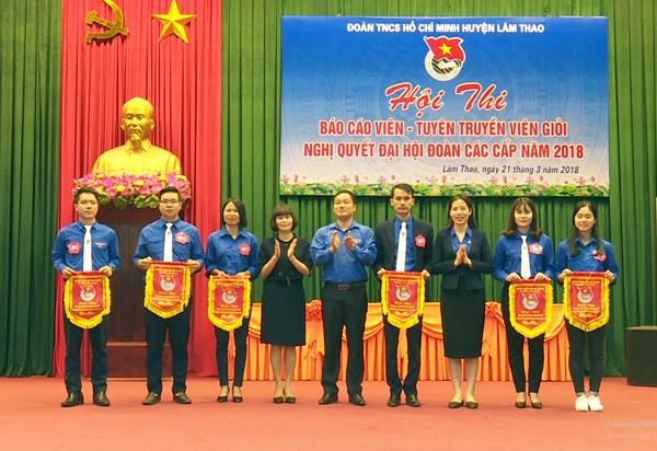 Lâm Thao: Hội thi Báo cáo viên, tuyên truyền viên giỏi Nghị quyết Đại hội đoàn các cấp năm 2018