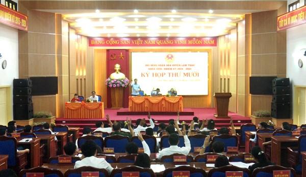 Kỳ họp thứ Mười, HĐND huyện khóa XVIII thành công tốt đẹp