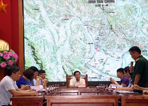 Lâm Thao tổ chức luyện tập diễn tập khu vực phòng thủ năm 2019