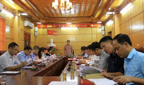 Họp Ban tổ chức các hoạt động kỷ niệm 20 năm Ngày tái lập huyện