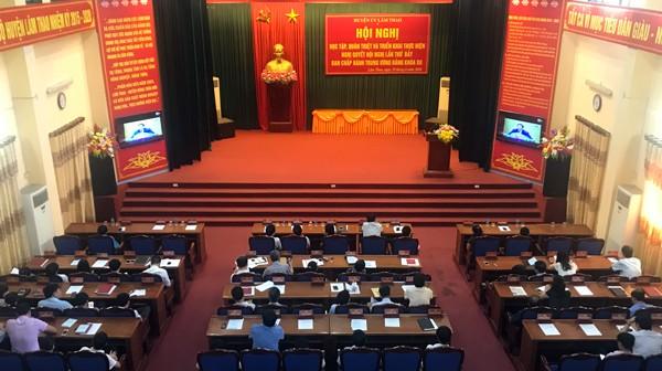 Lâm Thao: Quán triệt, triển khai thực hiện các Nghị quyết Trung ương 7, khóa XII của Đảng