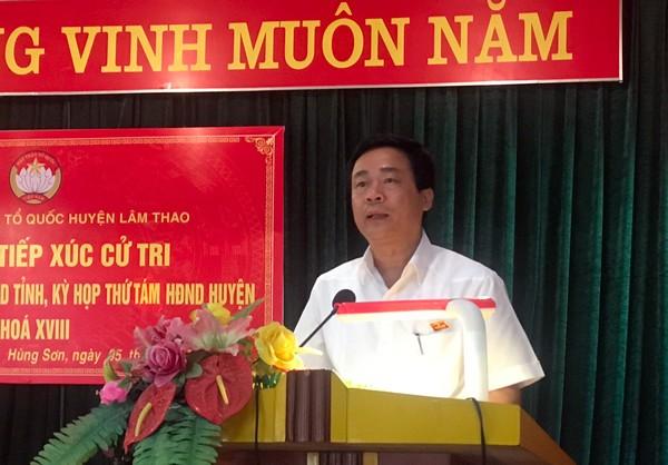 Đại biểu HĐND tỉnh, đại biểu HĐND huyện tiếp xúc cử tri