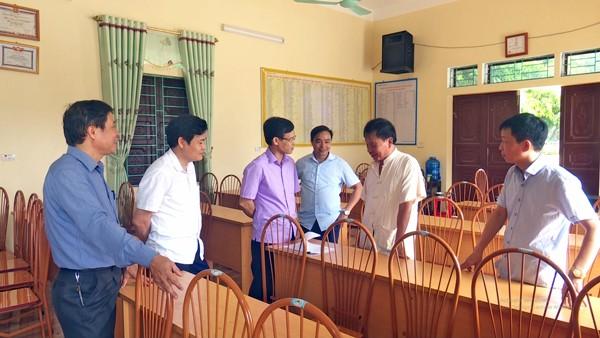 Đoàn công tác của Ban thường vụ Huyện ủy kiểm tra công tác sát nhập xã Hợp Hải – Kinh Kệ - Sơn Dương.