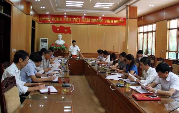 Họp Ban chỉ đạo Đại hội đại biểu MTTQ các cấp huyện Lâm Thao